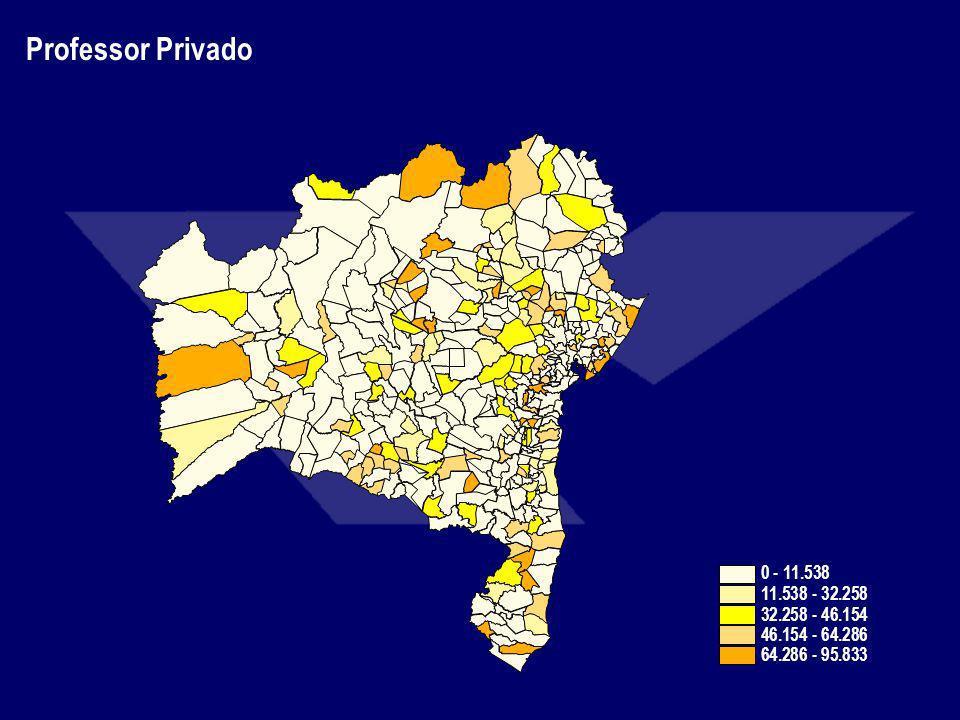 Professor Privado 0 - 11.538 11.538 - 32.258 32.258 - 46.154 46.154 - 64.286 64.286 - 95.833