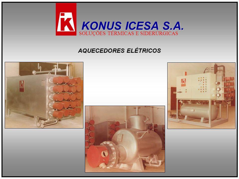 AQUECEDORES ELÉTRICOS KONUS ICESA S.A. SOLUÇÕES TÉRMICAS E SIDERÚRGICAS