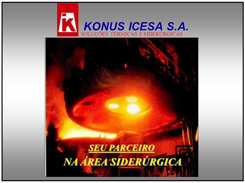 SEU PARCEIRO NA ÁREA SIDERÚRGICA KONUS ICESA S.A. SOLUÇÕES TÉRMICAS E SIDERÚRGICAS