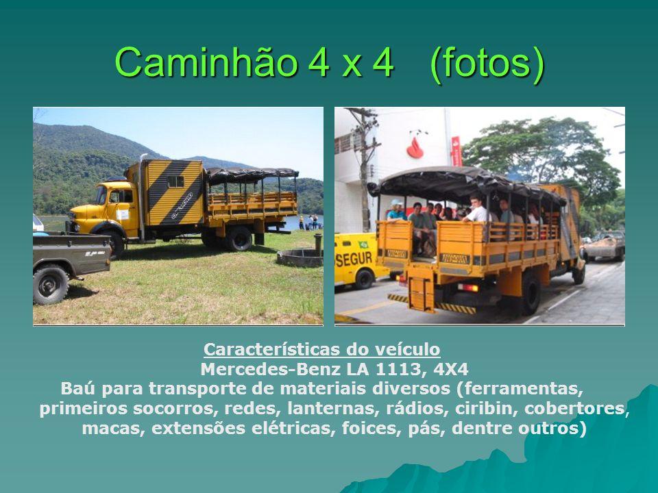 Caminhão 4 x 4 (fotos) Características do veículo Mercedes-Benz LA 1113, 4X4 Baú para transporte de materiais diversos (ferramentas, primeiros socorro