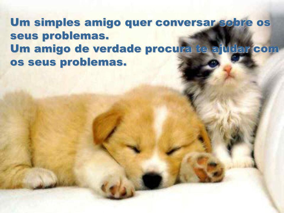 Um simples amigo quer conversar sobre os seus problemas.