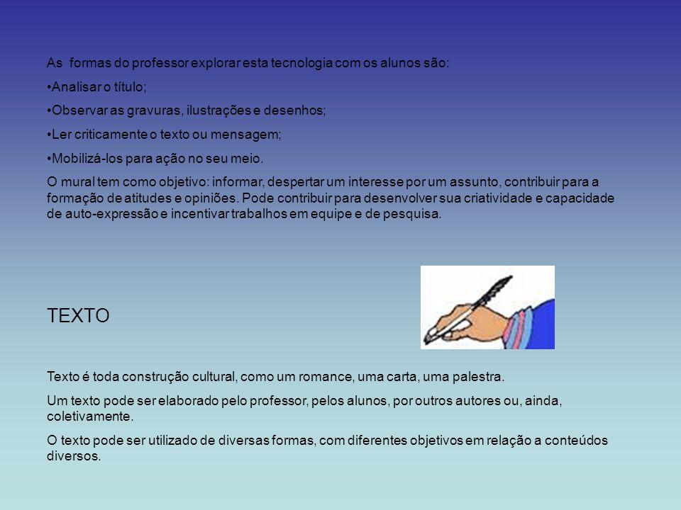 As formas do professor explorar esta tecnologia com os alunos são: Analisar o título; Observar as gravuras, ilustrações e desenhos; Ler criticamente o
