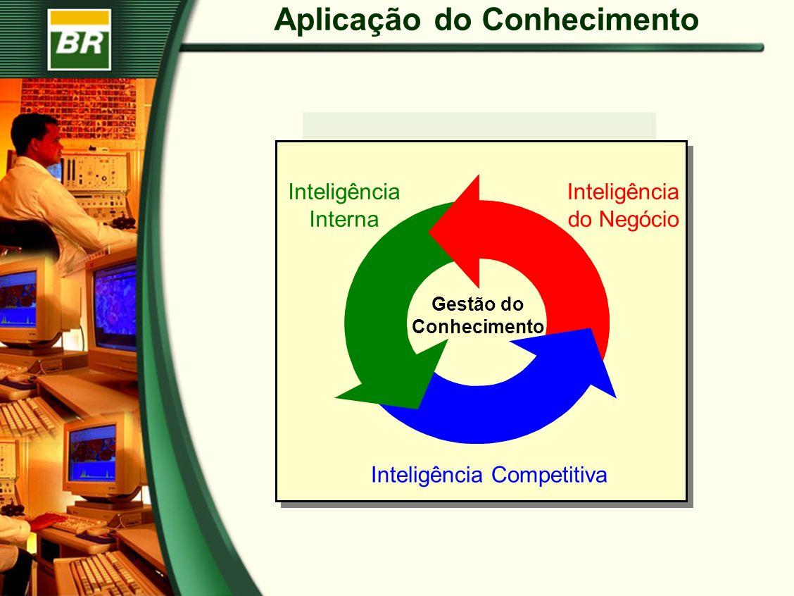 Aplicação do Conhecimento Inteligência Interna Inteligência do Negócio Inteligência Competitiva Gestão do Conhecimento