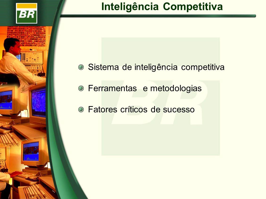 Inteligência Competitiva Sistema de inteligência competitiva Ferramentas e metodologias Fatores críticos de sucesso