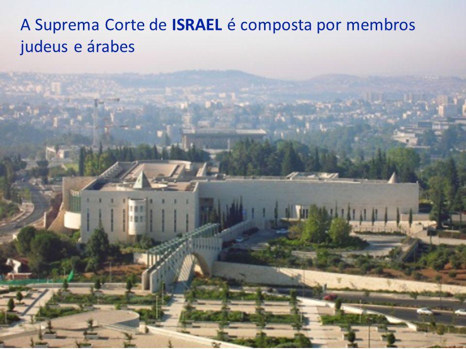 O parlamento de ISRAEL é composto por membros de diversos grupos étnicos, incluindo árabes, drusos e judeus