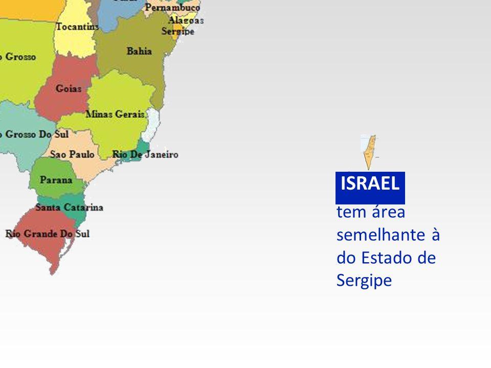 tem área semelhante à do Estado de Sergipe BRASIL