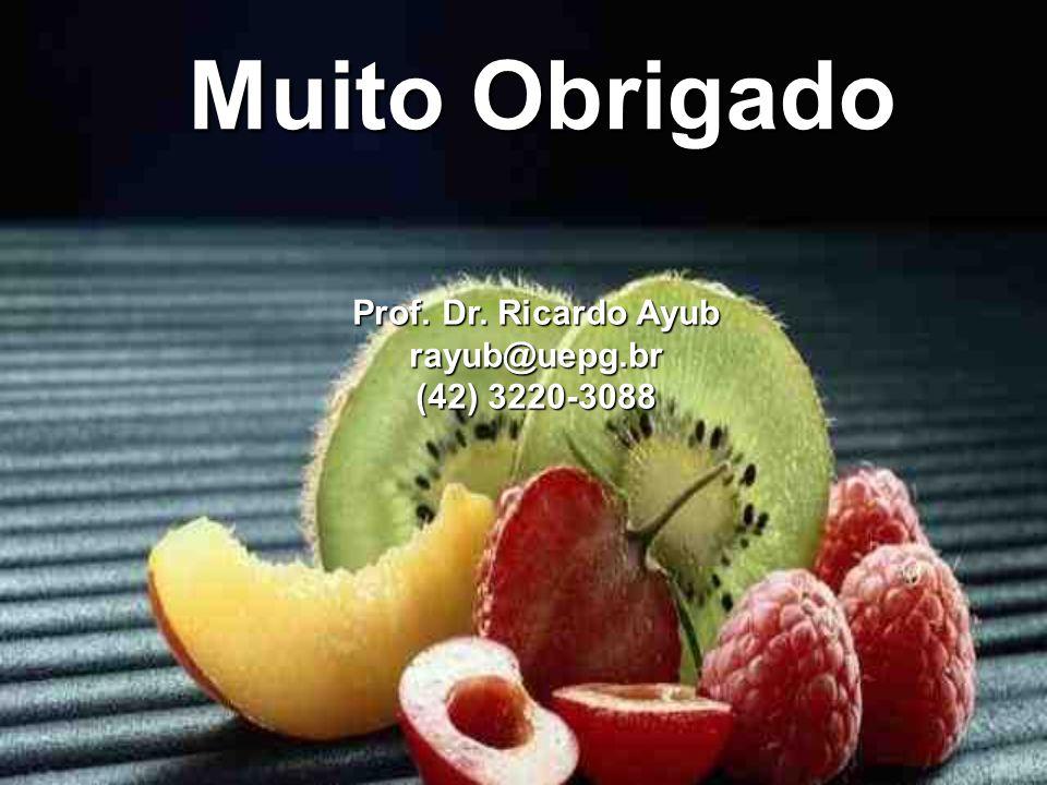 Prof. Dr. Ricardo Ayub rayub@uepg.br (42) 3220-3088 Muito Obrigado