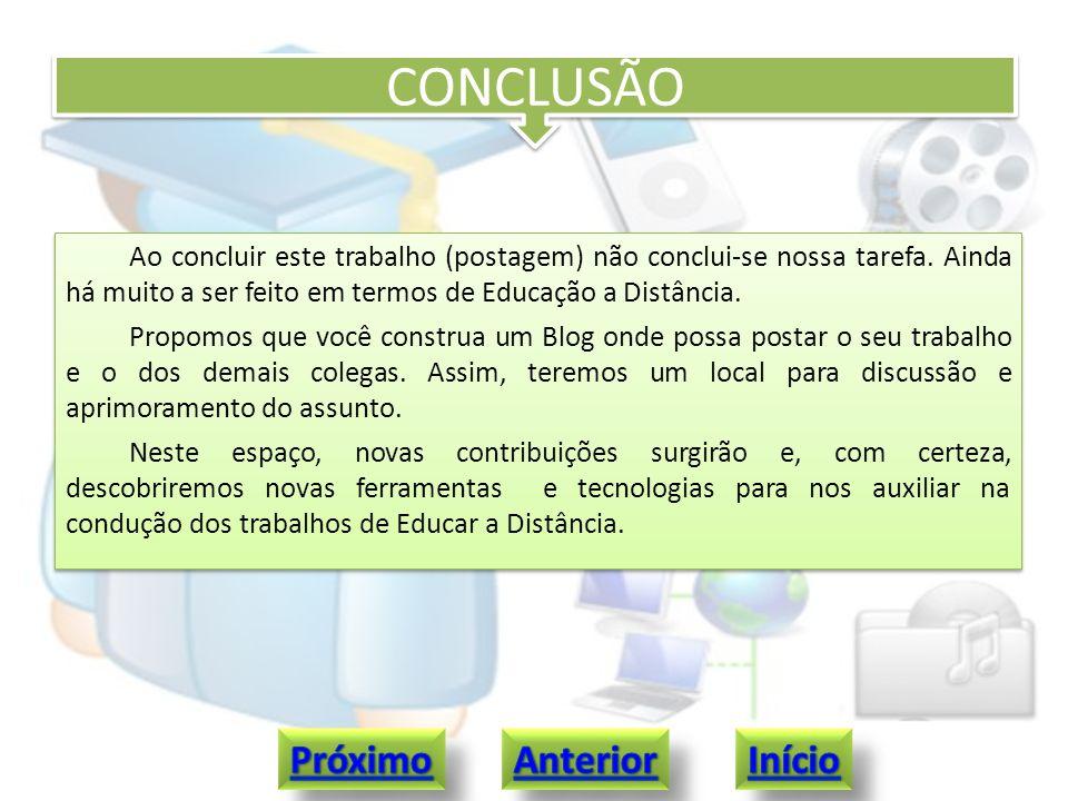 CRÉDITOS Autor: Ricardo Aires Simas Acadêmico do Curso de Pós Graduação em TICs Aplicadas à Educação http://www.abmeseduca.com/?cat=1 http://ead.folhadirigida.com.br/ http://www.cursoseadgratis.com/ http://www.educacaoadistancia.blog.br http://processocomunicacaoead.blogspot.com http://www.brasilescola.com/educacao/aprendizagem-ead.htm http://pt.wikipedia.org/wiki/Educa%C3%A7%C3%A3o_a_dist%C3%A2ncia#Ferramentas http://www.eca.usp.br/prof/moran/dist.htm http://portal.mec.gov.br/index.php?option=com_content&view=article&id=289&Itemid=356 Autor: Ricardo Aires Simas Acadêmico do Curso de Pós Graduação em TICs Aplicadas à Educação http://www.abmeseduca.com/?cat=1 http://ead.folhadirigida.com.br/ http://www.cursoseadgratis.com/ http://www.educacaoadistancia.blog.br http://processocomunicacaoead.blogspot.com http://www.brasilescola.com/educacao/aprendizagem-ead.htm http://pt.wikipedia.org/wiki/Educa%C3%A7%C3%A3o_a_dist%C3%A2ncia#Ferramentas http://www.eca.usp.br/prof/moran/dist.htm http://portal.mec.gov.br/index.php?option=com_content&view=article&id=289&Itemid=356
