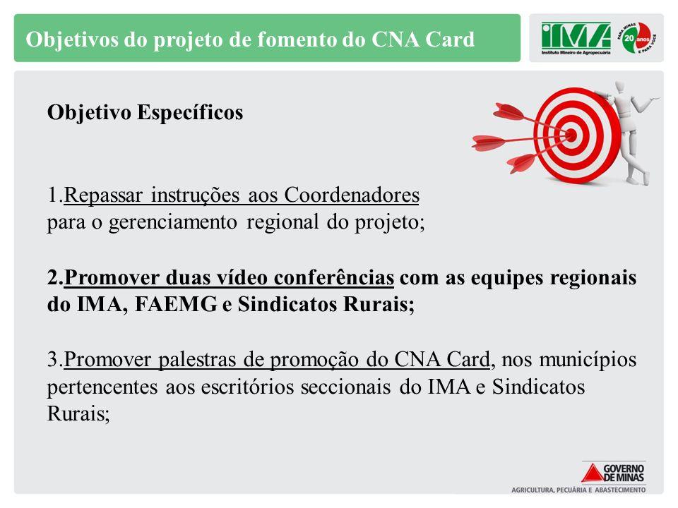 Estruturação de pontos de atendimento (Sindicato) Apresentar, esclarecer, conduzir ao cadastro e desbloquear o CNA Card.