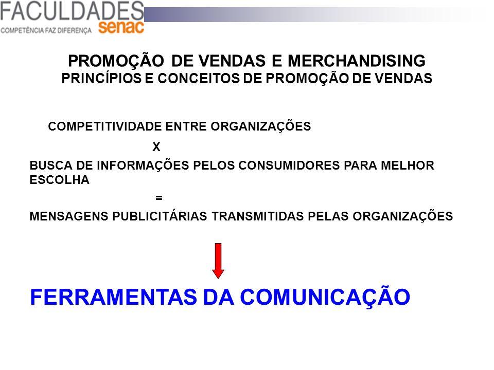 PROMOÇÃO DE VENDAS E MERCHANDISING PRINCÍPIOS E CONCEITOS DE PROMOÇÃO DE VENDAS COMPETITIVIDADE ENTRE ORGANIZAÇÕES X BUSCA DE INFORMAÇÕES PELOS CONSUM