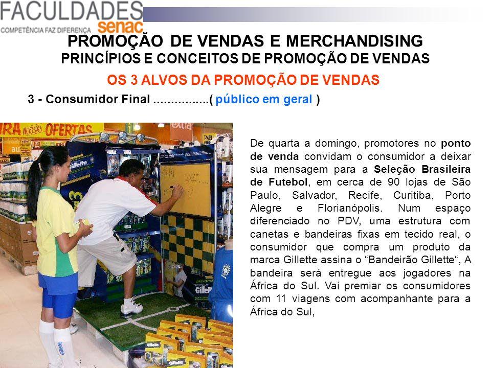 PROMOÇÃO DE VENDAS E MERCHANDISING PRINCÍPIOS E CONCEITOS DE PROMOÇÃO DE VENDAS OS 3 ALVOS DA PROMOÇÃO DE VENDAS 3 - Consumidor Final................(