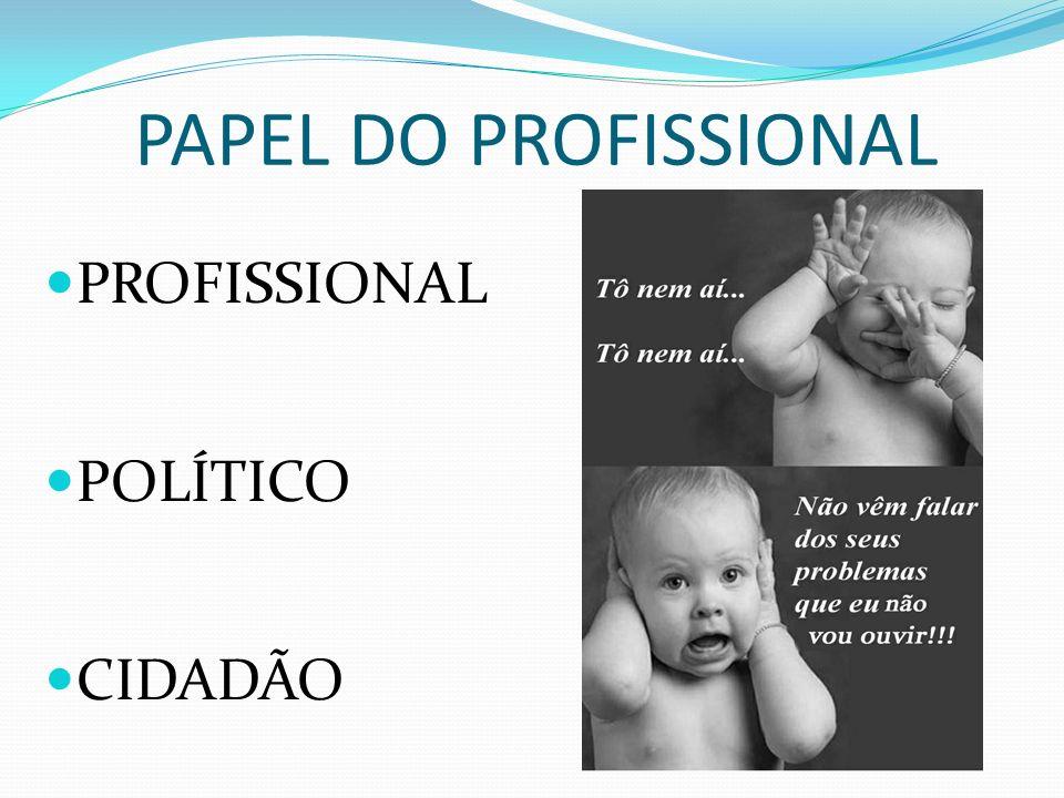 PAPEL DO PROFISSIONAL PROFISSIONAL POLÍTICO CIDADÃO