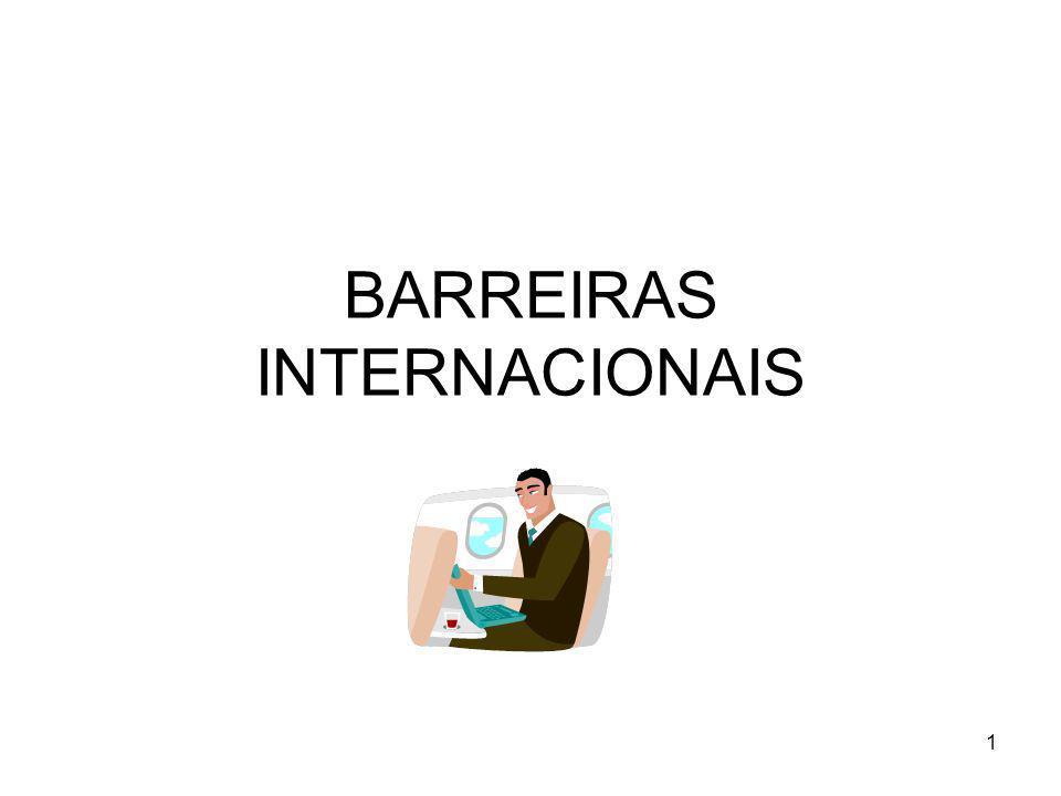1 BARREIRAS INTERNACIONAIS