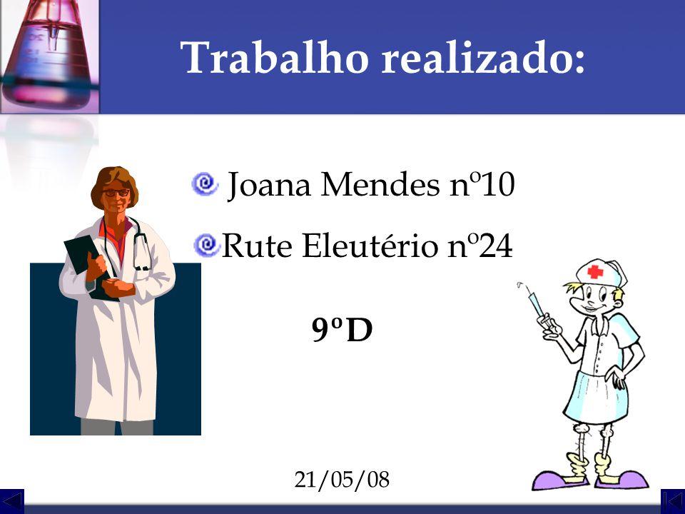 Trabalho realizado: Joana Mendes nº10 Rute Eleutério nº24 9ºD 21/05/08