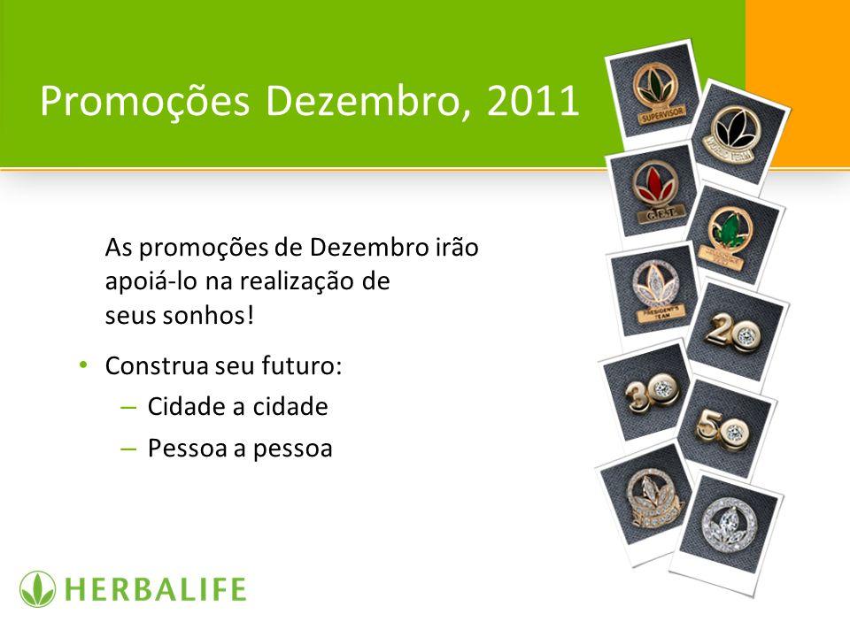 Promoções Dezembro, 2011 As promoções de Dezembro irão apoiá-lo na realização de seus sonhos! Construa seu futuro: – Cidade a cidade – Pessoa a pessoa