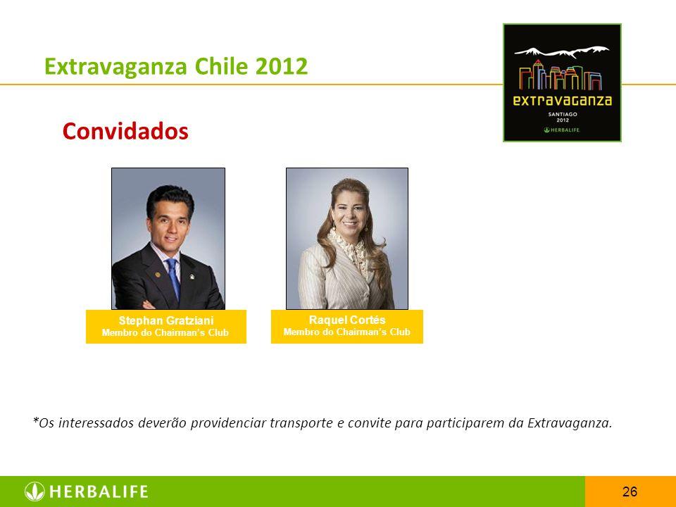 26 Extravaganza Chile 2012 Convidados *Os interessados deverão providenciar transporte e convite para participarem da Extravaganza. Stephan Gratziani