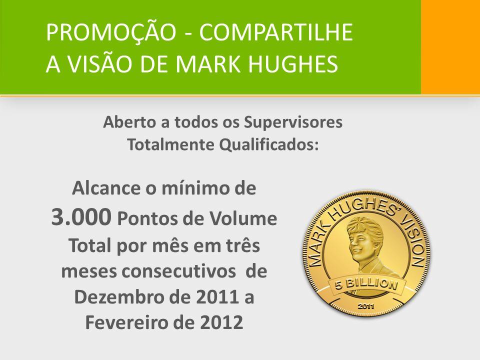 PROMOÇÃO - COMPARTILHE A VISÃO DE MARK HUGHES Aberto a todos os Supervisores Totalmente Qualificados: Alcance o mínimo de 3.000 Pontos de Volume Total