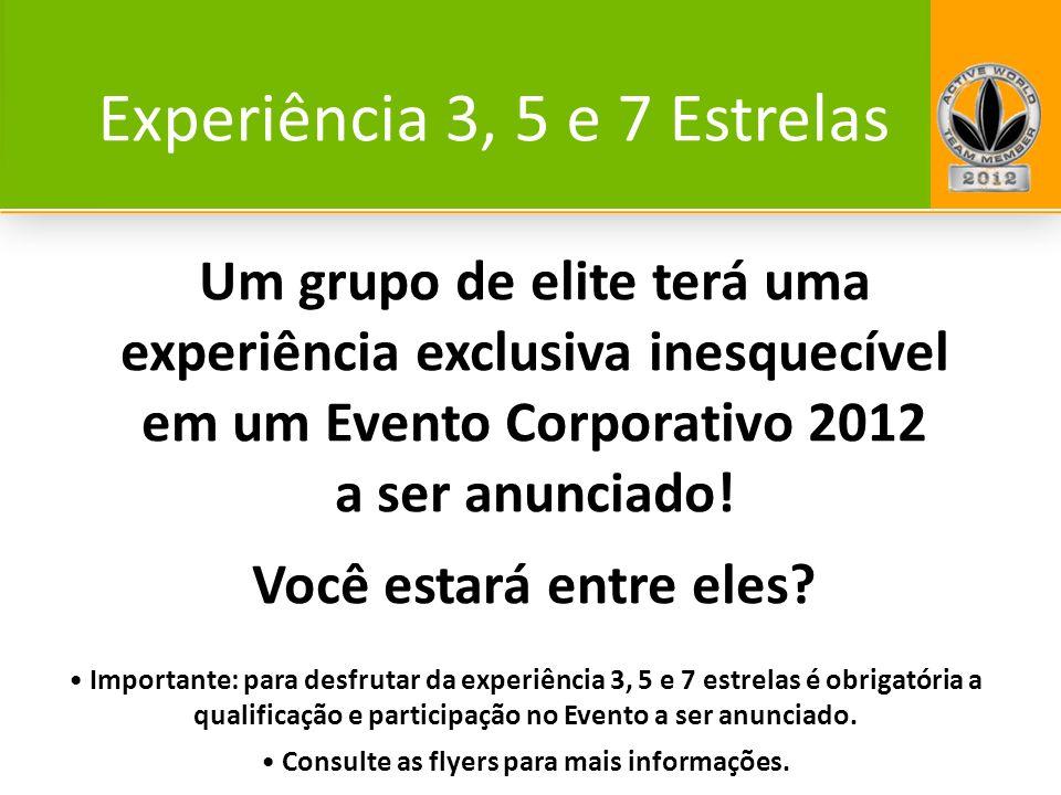 Um grupo de elite terá uma experiência exclusiva inesquecível em um Evento Corporativo 2012 a ser anunciado! Você estará entre eles? Importante: para