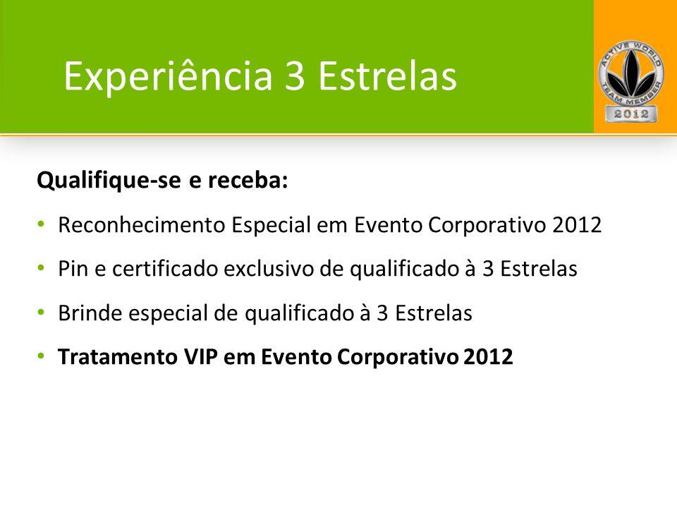 Qualifique-se e receba: Reconhecimento Especial em Evento Corporativo 2012 Pin e certificado exclusivo de qualificado à 3 Estrelas Brinde especial de