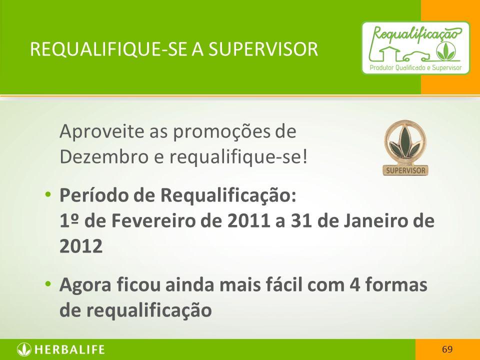 REQUALIFIQUE-SE A SUPERVISOR Aproveite as promoções de Dezembro e requalifique-se! Período de Requalificação: 1º de Fevereiro de 2011 a 31 de Janeiro