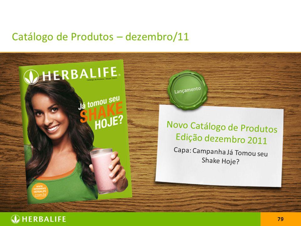 79 Novo Catálogo de Produtos Edição dezembro 2011 Capa: Campanha Já Tomou seu Shake Hoje? Lançamento Catálogo de Produtos – dezembro/11