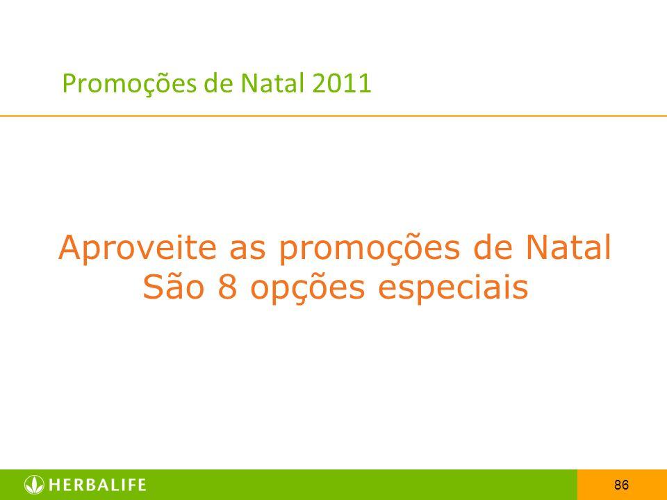 86 Promoções de Natal 2011 Aproveite as promoções de Natal São 8 opções especiais