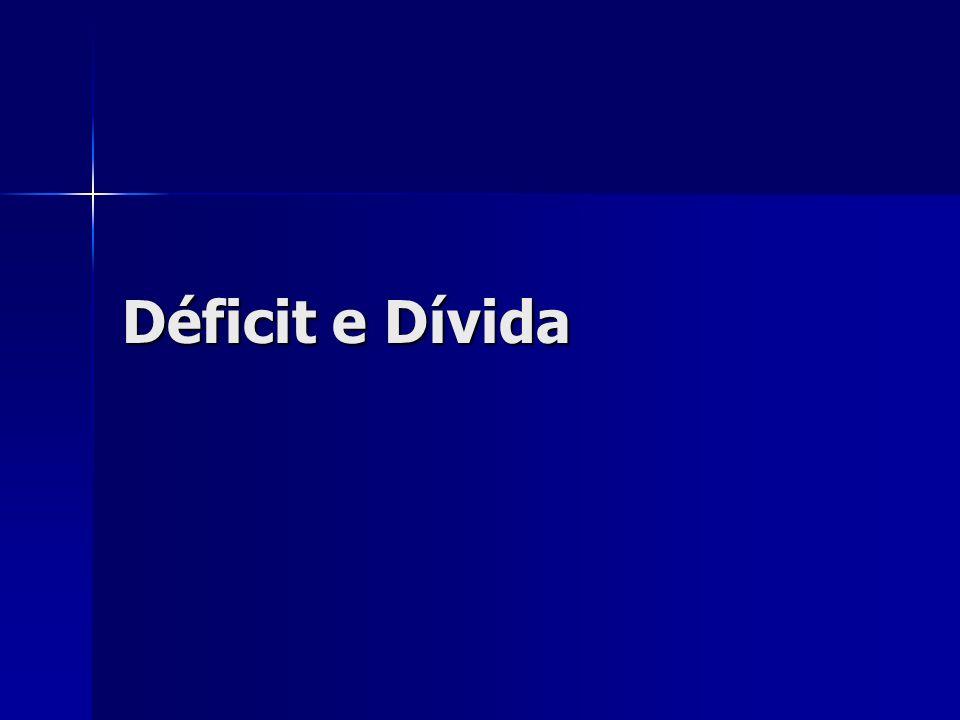 Déficit e Dívida