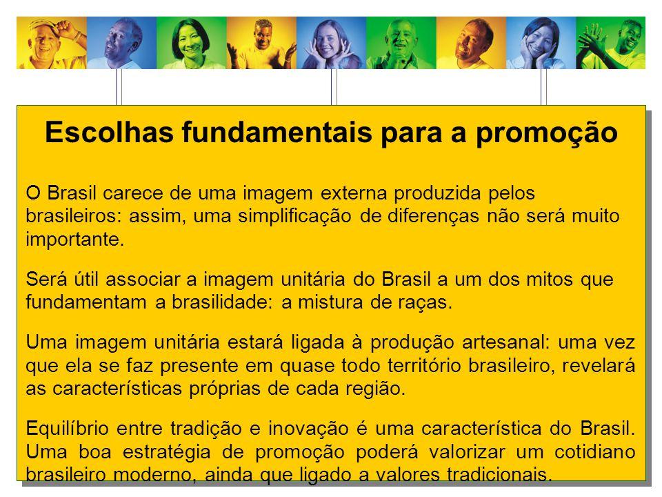 Escolhas fundamentais para a promoção O Brasil carece de uma imagem externa produzida pelos brasileiros: assim, uma simplificação de diferenças não se