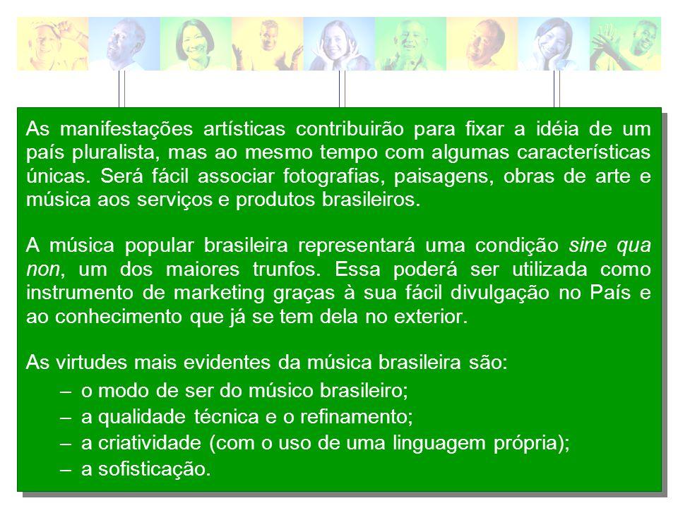 As manifestações populares serão um fortíssimo veículo para a promoção da imagem da cara brasileira.