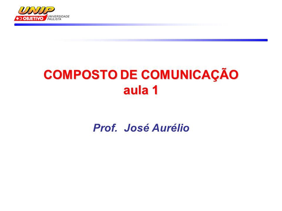 COMPOSTO DE COMUNICAÇÃO aula 1 Prof. José Aurélio