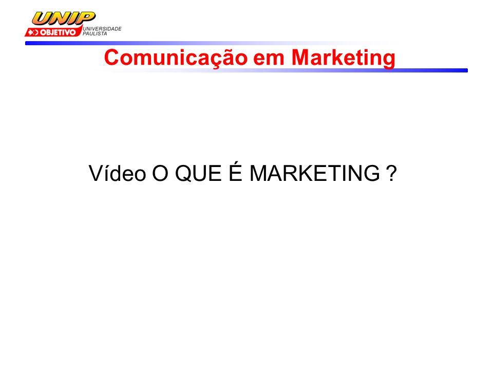Comunicação em Marketing Vídeo O QUE É MARKETING ?