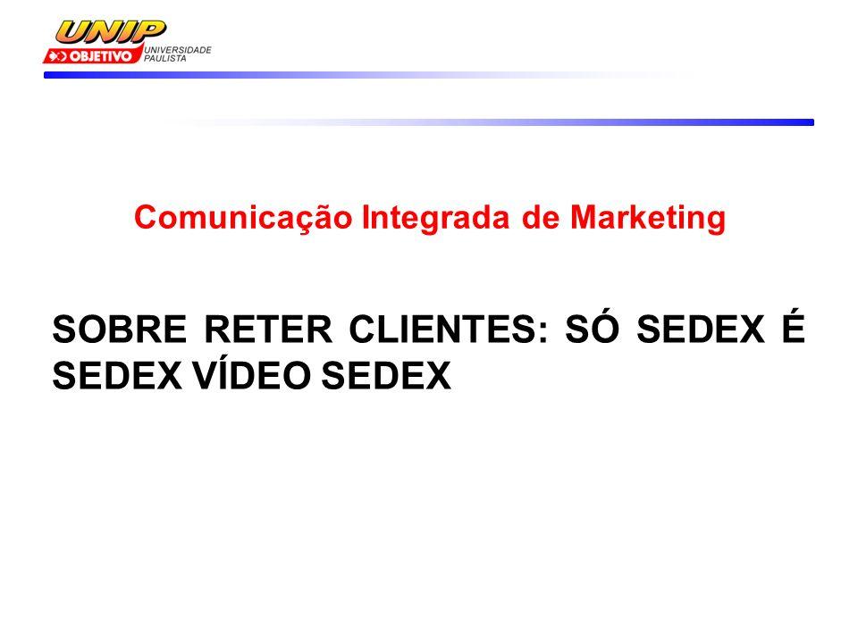 SOBRE RETER CLIENTES: SÓ SEDEX É SEDEX VÍDEO SEDEX Comunicação Integrada de Marketing
