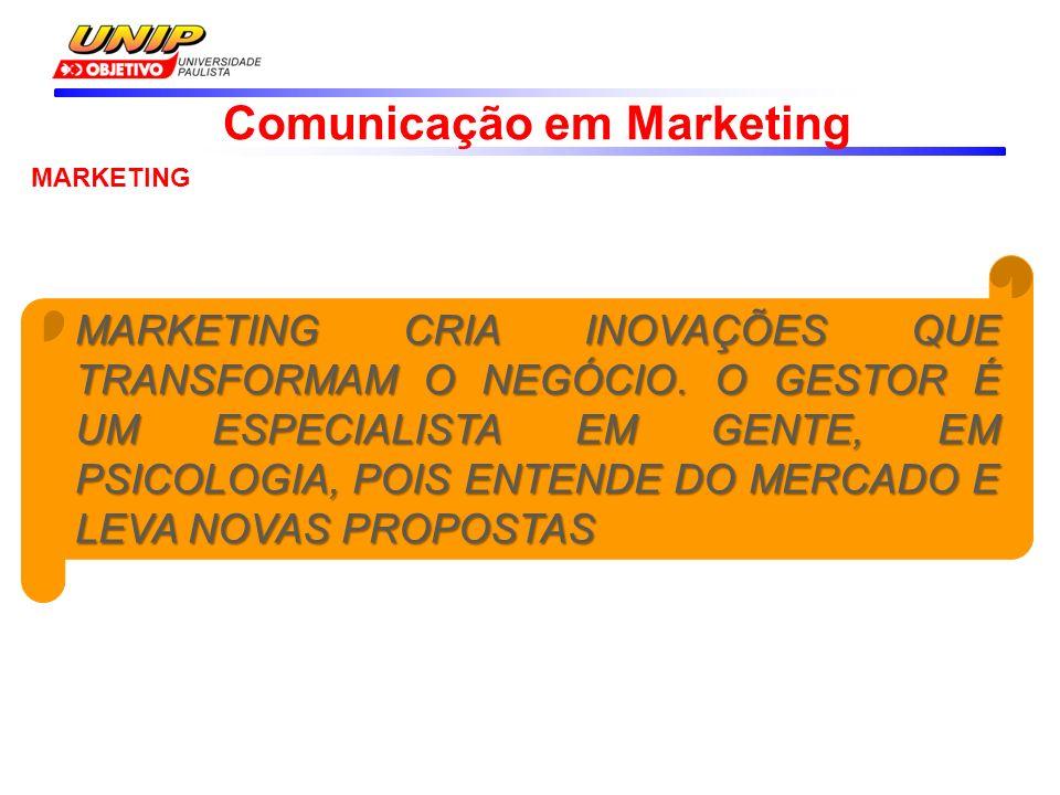 Comunicação em Marketing MARKETING MARKETING SEGMENTA O MERCADO OEFERECNDO ÀS PESSOAS NOVAS OPORTUNIDADES