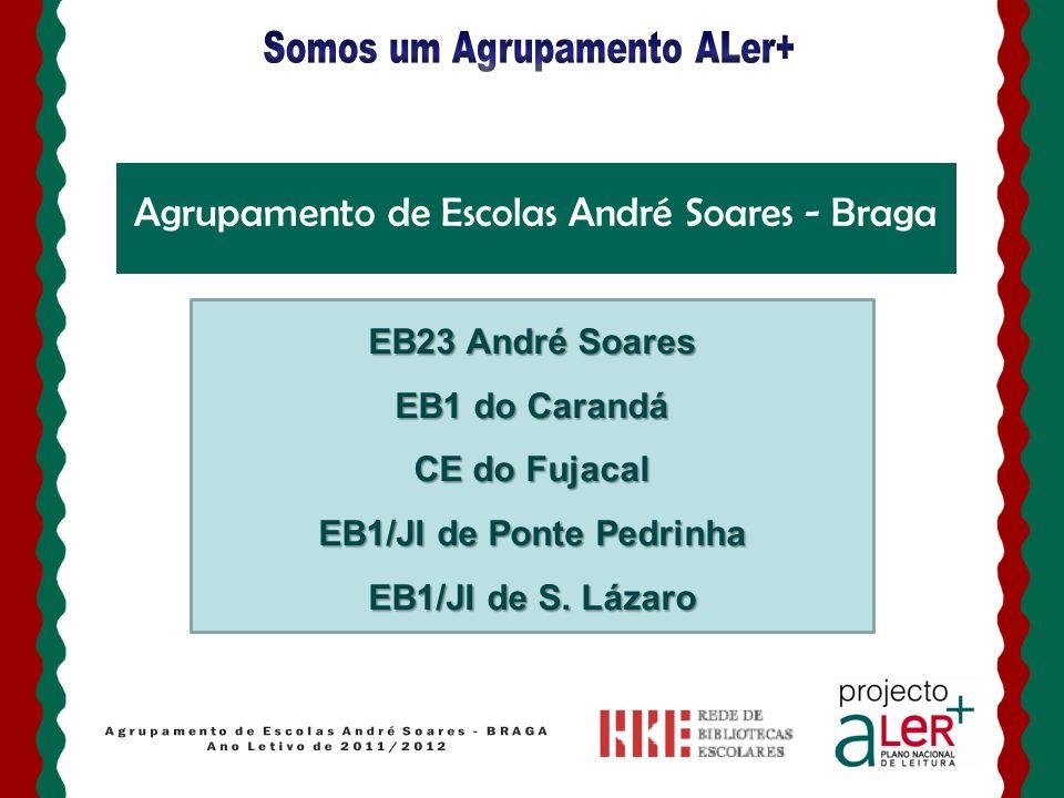 Quem somos? Agrupamento de Escolas André Soares - Braga EB23 André Soares EB1 do Carandá CE do Fujacal EB1/JI de Ponte Pedrinha EB1/JI de S. Lázaro