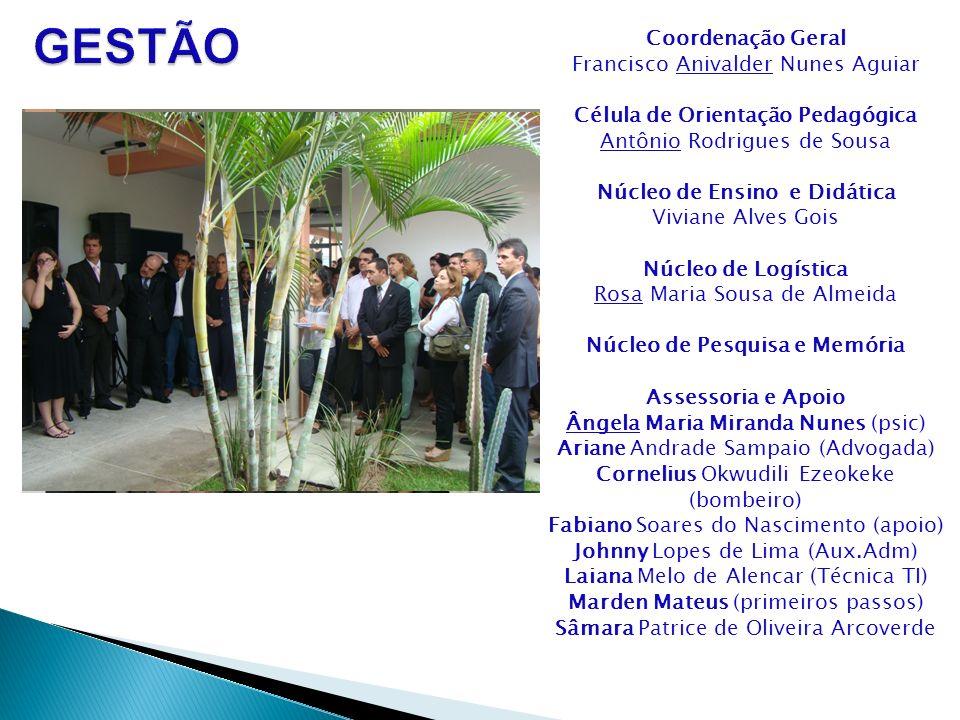 Coordenação Geral Francisco Anivalder Nunes Aguiar Célula de Orientação Pedagógica Antônio Rodrigues de Sousa Núcleo de Ensino e Didática Viviane Alve