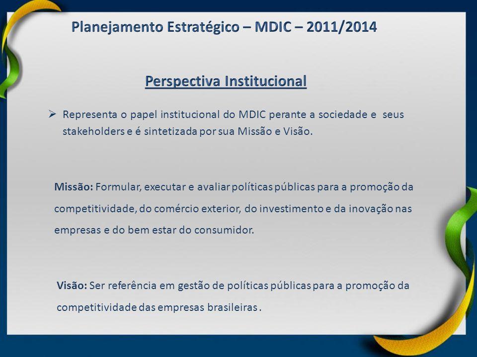 Missão: Formular, executar e avaliar políticas públicas para a promoção da competitividade, do comércio exterior, do investimento e da inovação nas em
