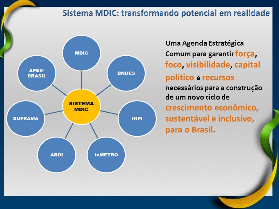 Uma Agenda Estratégica Comum para garantir força, foco, visibilidade, capital político e recursos necessários para a construção de um novo ciclo de cr