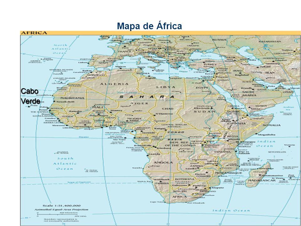Mapa de África CaboVerde