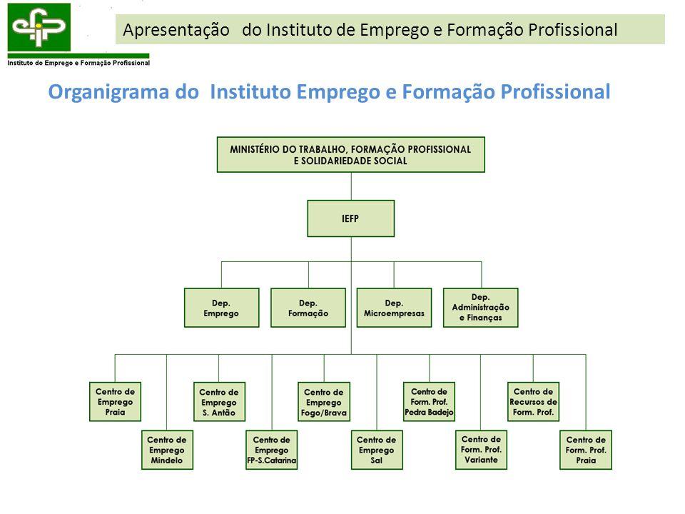 Organigrama do Instituto Emprego e Formação Profissional Apresentação do Instituto de Emprego e Formação Profissional