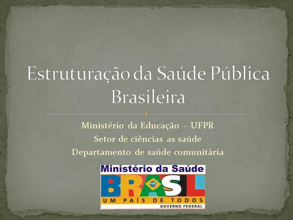 O Ministério da Saúde tem a função de oferecer condições para a promoção, proteção e recuperação da saúde da população, reduzindo as enfermidades, controlando as doenças endêmicas e parasitárias e melhorando a vigilância à saúde, dando, assim, mais qualidade de vida ao brasileiro.