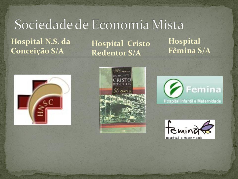 Hospital N.S. da Conceição S/A Hospital Fêmina S/A Hospital Cristo Redentor S/A