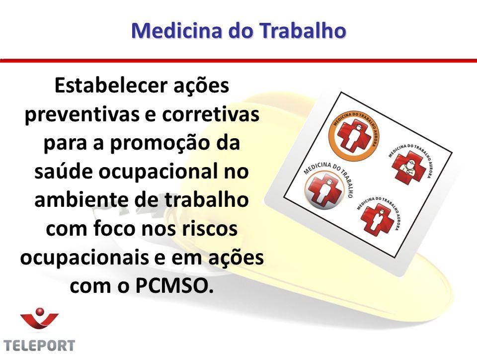 Medicina do Trabalho Estabelecer ações preventivas e corretivas para a promoção da saúde ocupacional no ambiente de trabalho com foco nos riscos ocupa