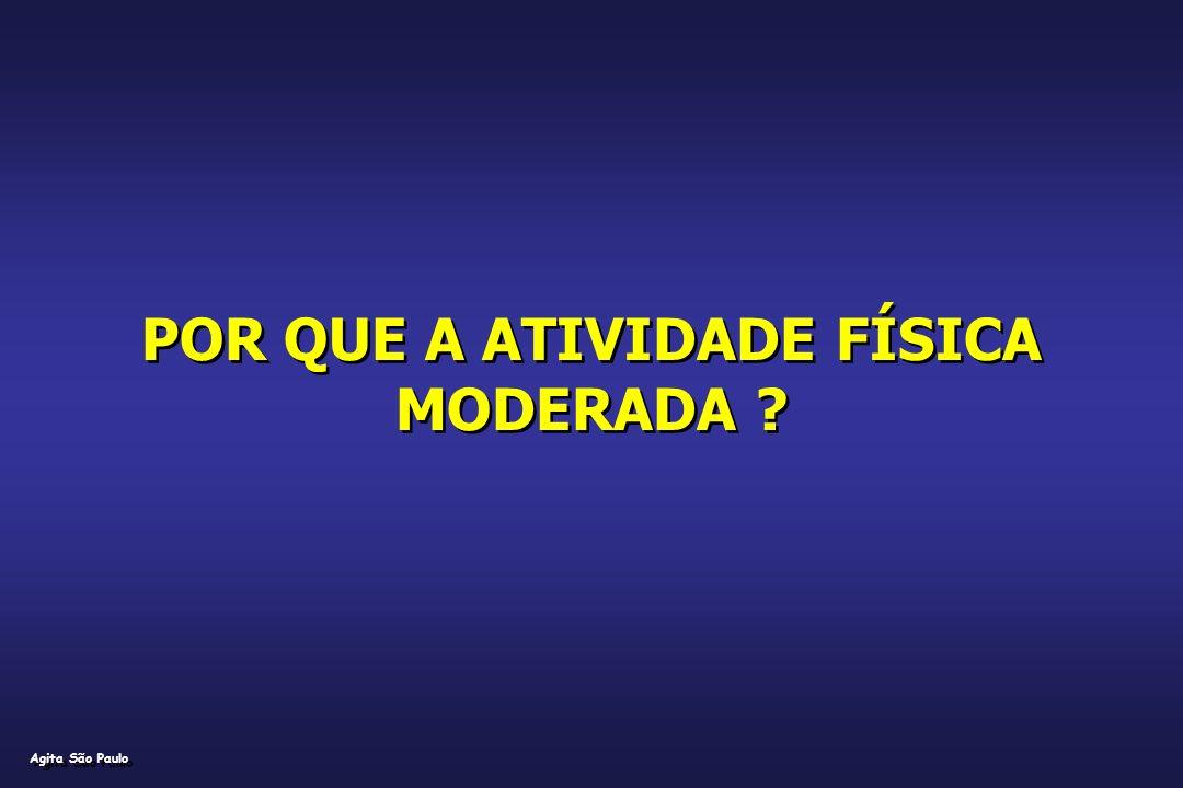 POR QUE A ATIVIDADE FÍSICA MODERADA ? Agita São Paulo