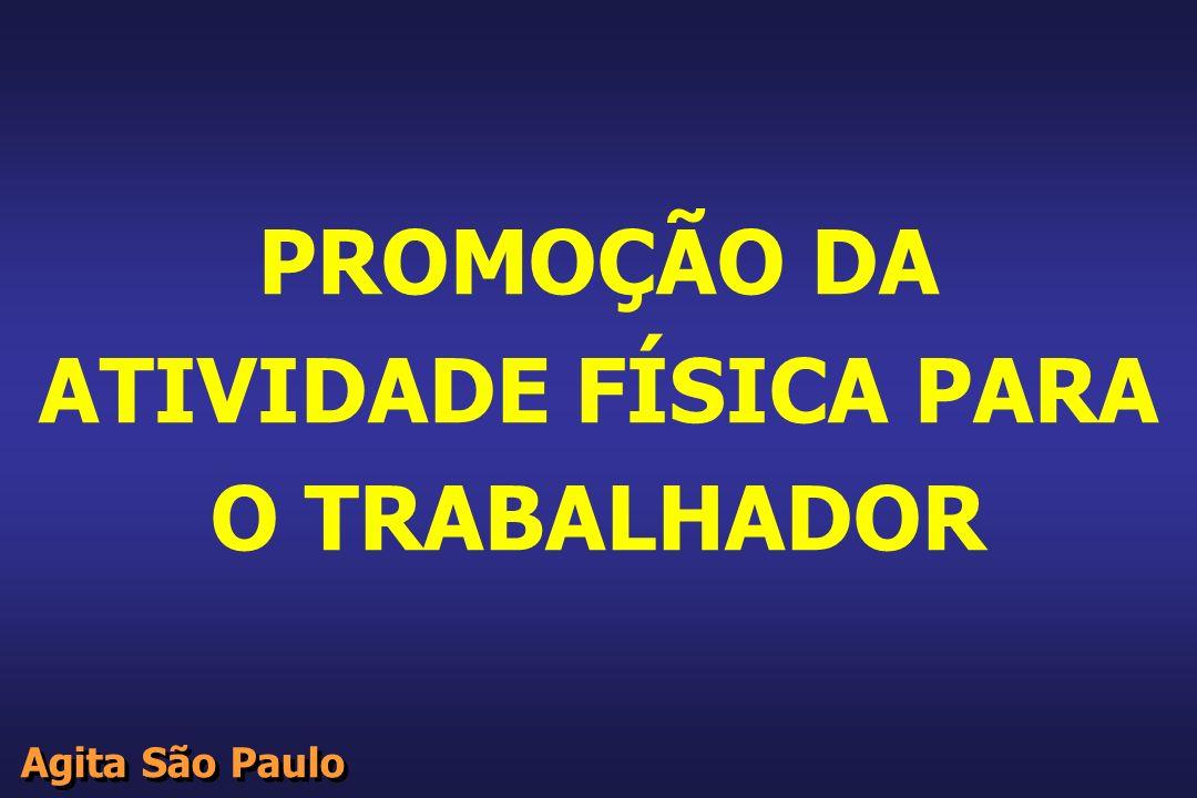 Agita São Paulo PROMOÇÃO DA ATIVIDADE FÍSICA PARA O TRABALHADOR