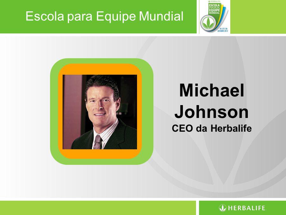 Escola para Equipe Mundial Michael Johnson CEO da Herbalife