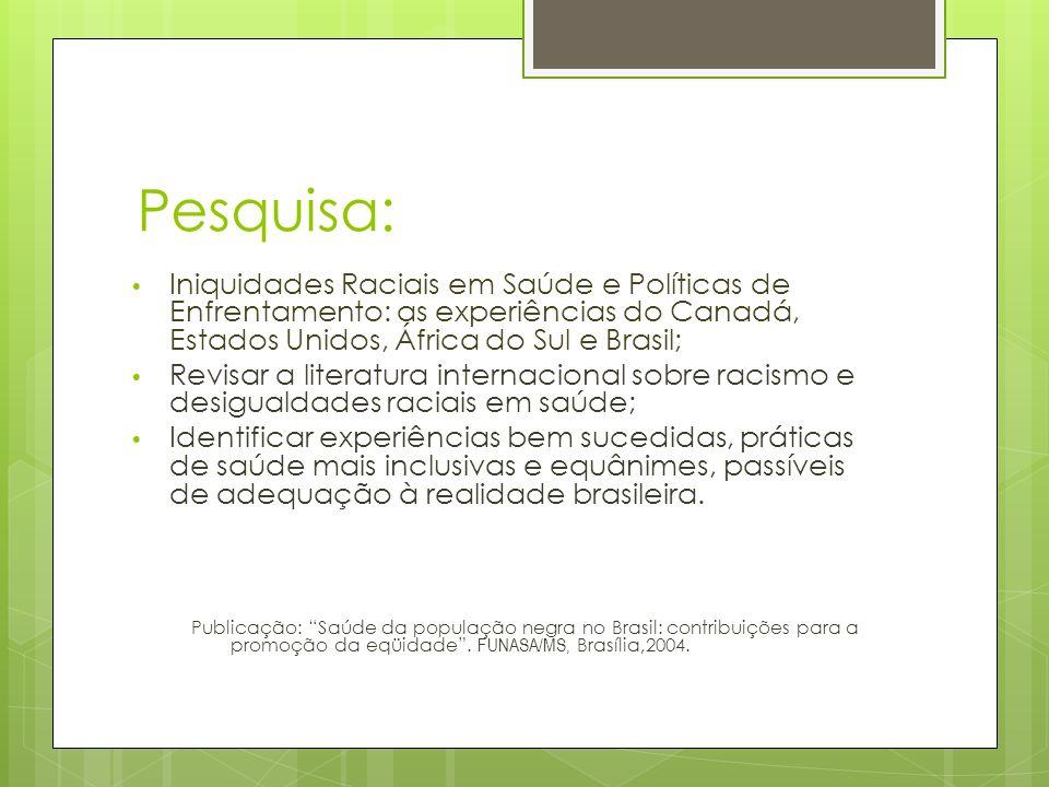 Dimensões afetadas pelo RI Relações comunitárias; Profissionais de saúde; Pesquisa; Ideologia; Pesquisas sobre tratamento desigual;