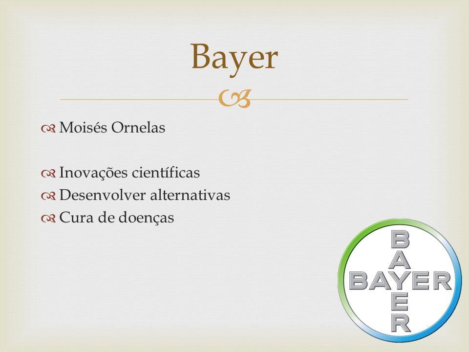 Moisés Ornelas Inovações científicas Desenvolver alternativas Cura de doenças Bayer
