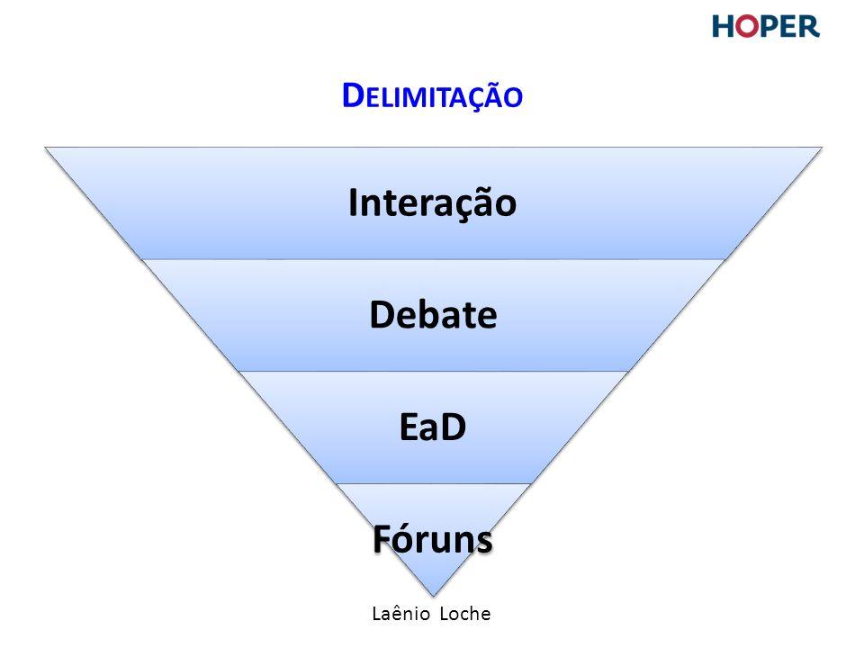 Laênio Loche Interação Debate EaD Fóruns D ELIMITAÇÃO