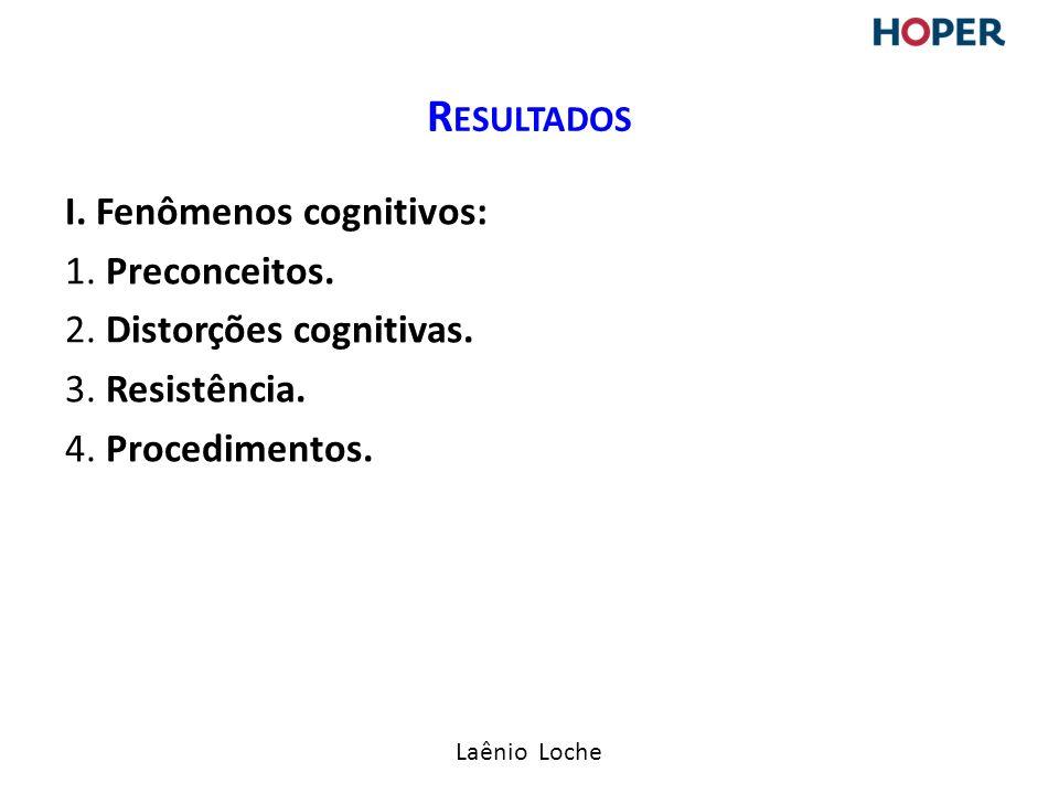 Laênio Loche I.Fenômenos cognitivos: 1. Preconceitos.