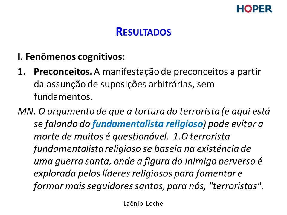 Laênio Loche I.Fenômenos cognitivos: 1.Preconceitos.